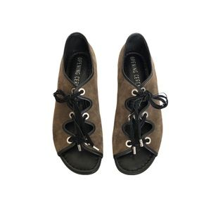 Opening Ceremony Juniper Suede Laced Sandals